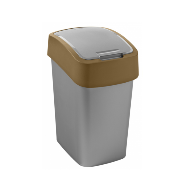 02171 - Kosz na śmieci 25l Flip Bin segregacja brazowy