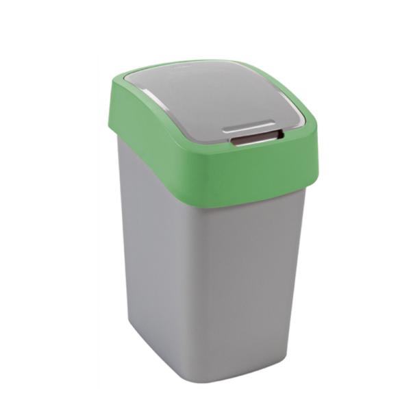 02171 - Kosz na śmieci 25l Flip Bin segregacja zielony