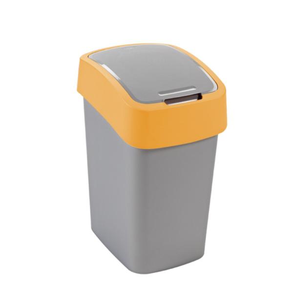 02171 - Kosz na śmieci 25l Flip Bin segregacja zolty