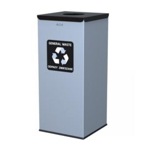 128 - Kosz do segregacji odpadów EKO SQUARE 60L CZARNY