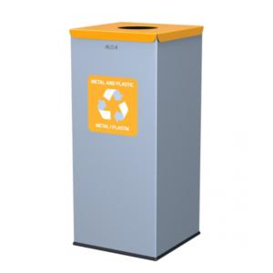 128 - Kosz do segregacji odpadów EKO SQUARE 60L zolty