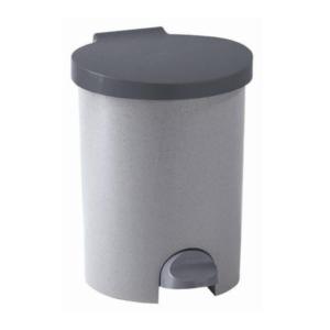 14011 - Kosz na śmieci z pedałem 15L srebrny