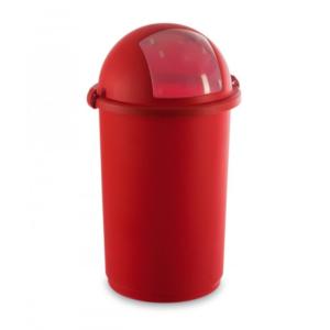 5055 - Kosz do na śmieci 50L push kolory czerwony