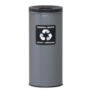 651 - Kosz do segregacji odpadów EKO 45L stal czarny