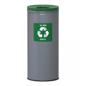651 - Kosz do segregacji odpadów EKO 45L stal zielony