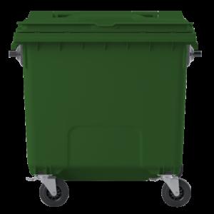 C1100 - Pojemnik na odpady 1100L z pokrywą zielony